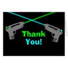 Laser-Umbau-blaues Grün danken Ihnen Karte