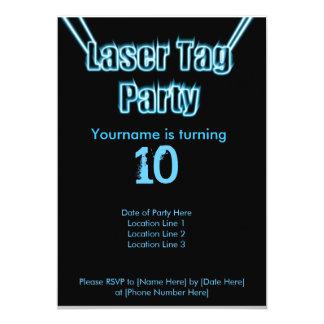 Laser-Umbau-Party-Blau-Einladung 12,7 X 17,8 Cm Einladungskarte