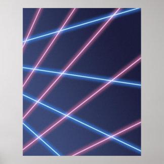 Laserstrahlschulporträt-Hintergrund Poster