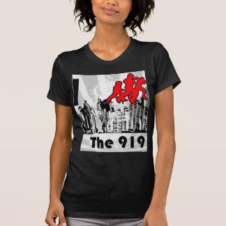 Lassen Sie das 919 FM der V-Hals Schwarz-T-Stück T-Shirt