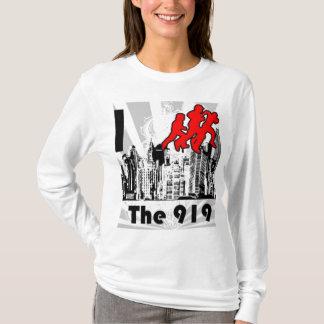 Lassen Sie den 919 hellblauen FM Kapuzenpulli T-Shirt