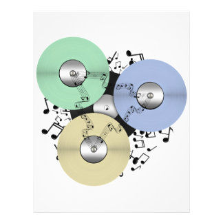 Lassen Sie den Musik-Fluss (Zweispulen u. 21,6 X 27,9 Cm Flyer