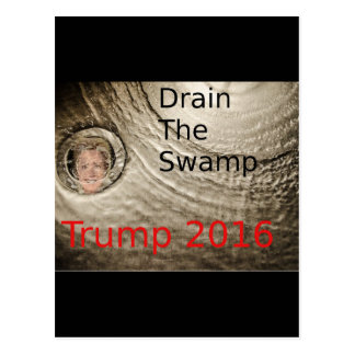 Lassen Sie den Sumpf Trumpf-Clinton politischen Postkarte