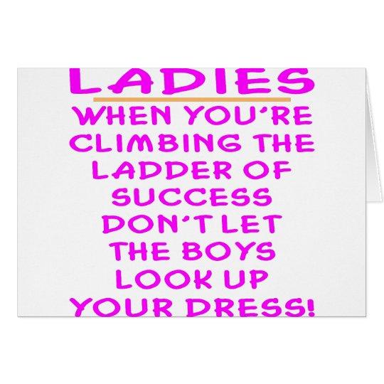 Lassen Sie die Jungen Ihr Kleid nicht oben schauen Grußkarte
