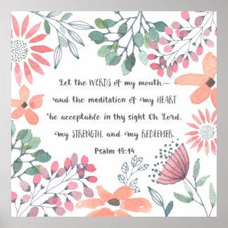 Lassen Sie die Wörter meines Munds - Ps-19:14 Poster