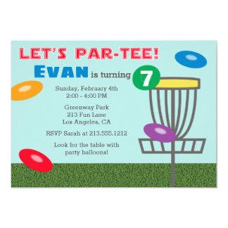 LASSEN Sie Disc-Golf-Geburtstags-Party Einladung