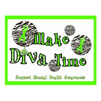 Lassen Sie Diva Zeit Postkarte