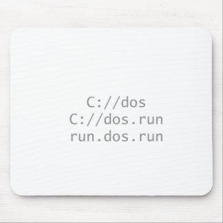 Lassen Sie DOS, lustiges geeky laufen Mauspads
