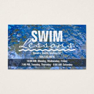 Lassen Sie ein Spritzen-funkelndes blaues Wasser Visitenkarte