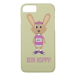 Lassen Sie hopfenreiches laufen! Häschen-Läufer im iPhone 8/7 Hülle