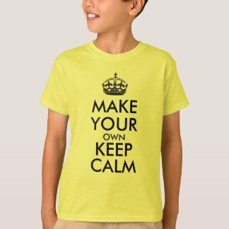 Lassen Sie Ihre Selbst Ruhe behalten - Schwarzes T-Shirt