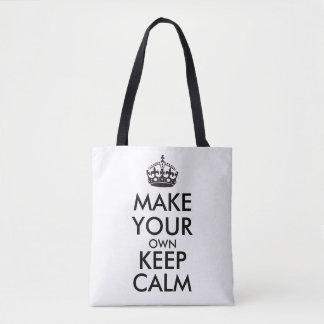 Lassen Sie Ihre Selbst Ruhe behalten Tasche