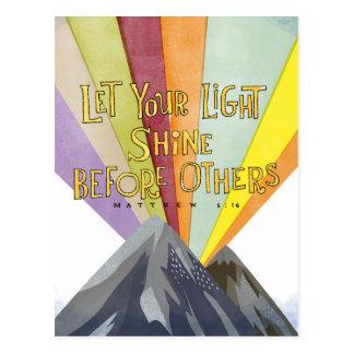 Lassen Sie Ihren hellen Shine Postkarte