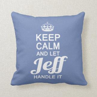 Lassen Sie Jeff es behandeln! Kissen