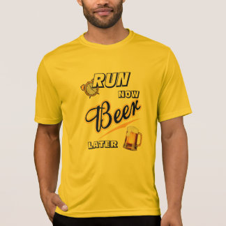 Lassen Sie jetzt Bier neueren Sport-Tek SS laufen T-Shirt