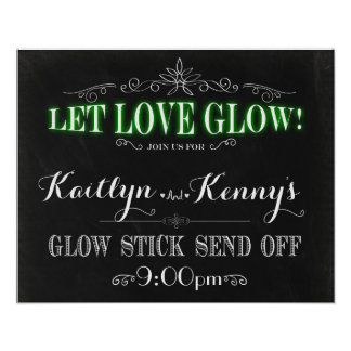 Lassen Sie Liebe glühen - Glühen-Stock senden weg Poster