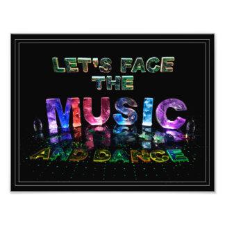 Lassen Sie uns die Musik gegenüberstellen u. Fotografische Drucke