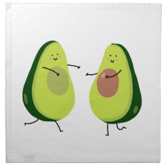 LASSEN SIE US AVOCUDDLE, AVOCADO-ENTWURF SERVIETTE