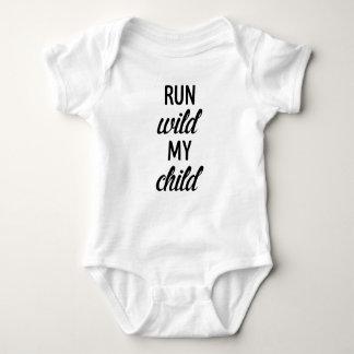 Lassen Sie wildes Baby onsie laufen Baby Strampler
