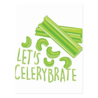 Lässt Celerybrate Postkarte