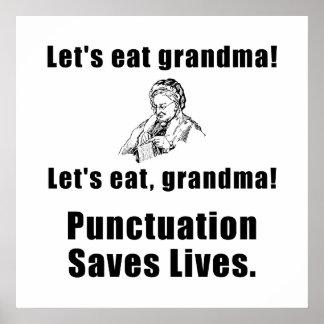 Lässt Großmutter essen Poster