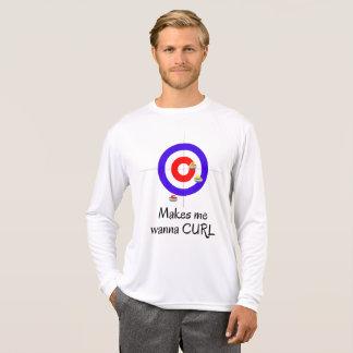 Lässt mich wollen, um Shirt zu kräuseln
