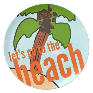 lässt zum Strand gehen Essteller