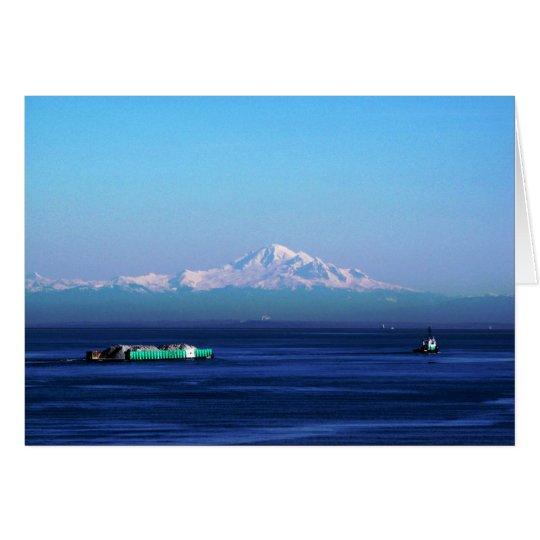 Lastkahn auf Salish Meer Karte