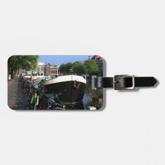 Lastkahn und Fahrräder, Amsterdam Gepäckanhänger