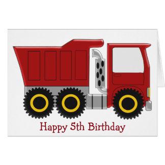 Lastwagen-5. Geburtstag Karte
