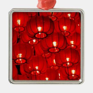 Laternen Silbernes Ornament