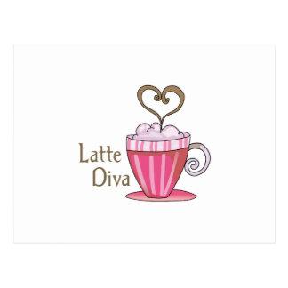 Latte Diva Postkarte