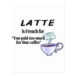 Latte ist für… französisch postkarte