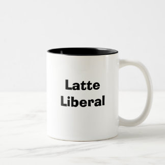 Latte Liberal-Tasse Zweifarbige Tasse