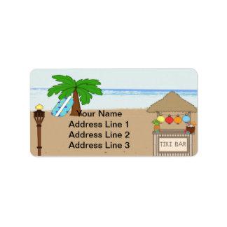 Laua/Tiki Party Einladungs-Adressen-Etiketten Adressaufkleber