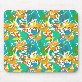 Laub-Blätter-Fall-Herbst-buntes abstraktes cooles Mousepads