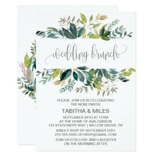 Laub-Hochzeits-Brunch 12,7 X 17,8 Cm Einladungskarte