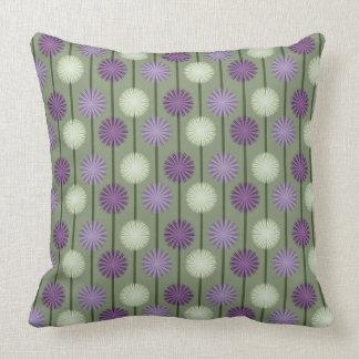 Lauch-Blumen-Muster-lila und grünes Kissen