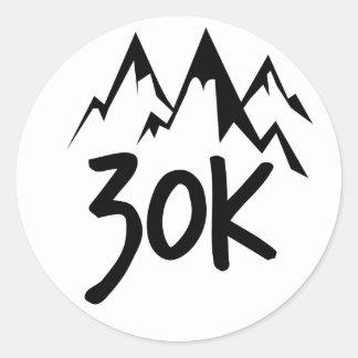 Lauf 30K Runder Aufkleber