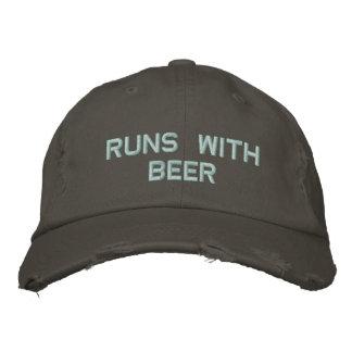 Läufe mit Bier! Trinkender Hut für den Party-Typ Bestickte Baseballmützen