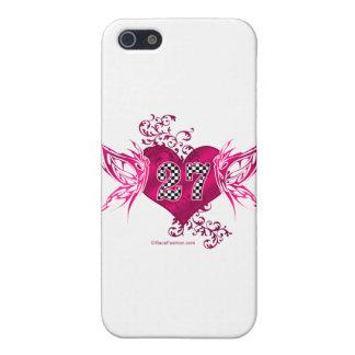 Laufen der rosa Schmetterlinge der Nr. 27 iPhone 5 Schutzhülle