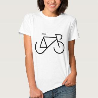 Laufen des Fahrrad-Schwarzen T-shirts