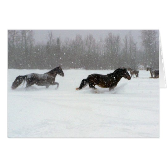 Laufen in den Schnee Karte