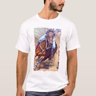 Laufen Sie mit dem schnellen Mengen-Fass-Laufen T-Shirt