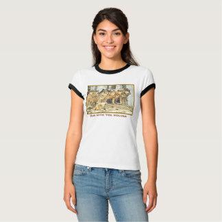 Laufen Sie mit den Wölfen, Foto des großen Satzes T-Shirt