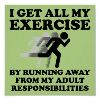 Laufen weg von Verantwortungs-lustigem Plakat Si