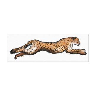 Laufende Cheetah-Kunst-Leinwand Leinwanddruck