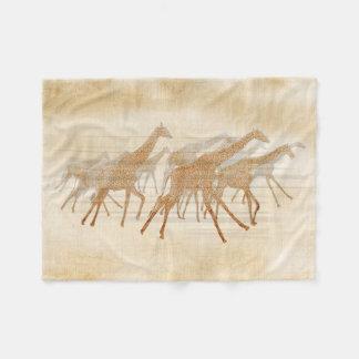 Laufende Giraffen ID141 Fleecedecke