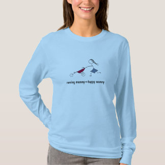 laufende mommy=happy Mama T-Shirt