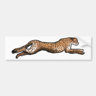Laufender Cheetah-Kunst-Autoaufkleber Autoaufkleber